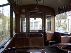 Inside the Pöstlingbergbahn tram units