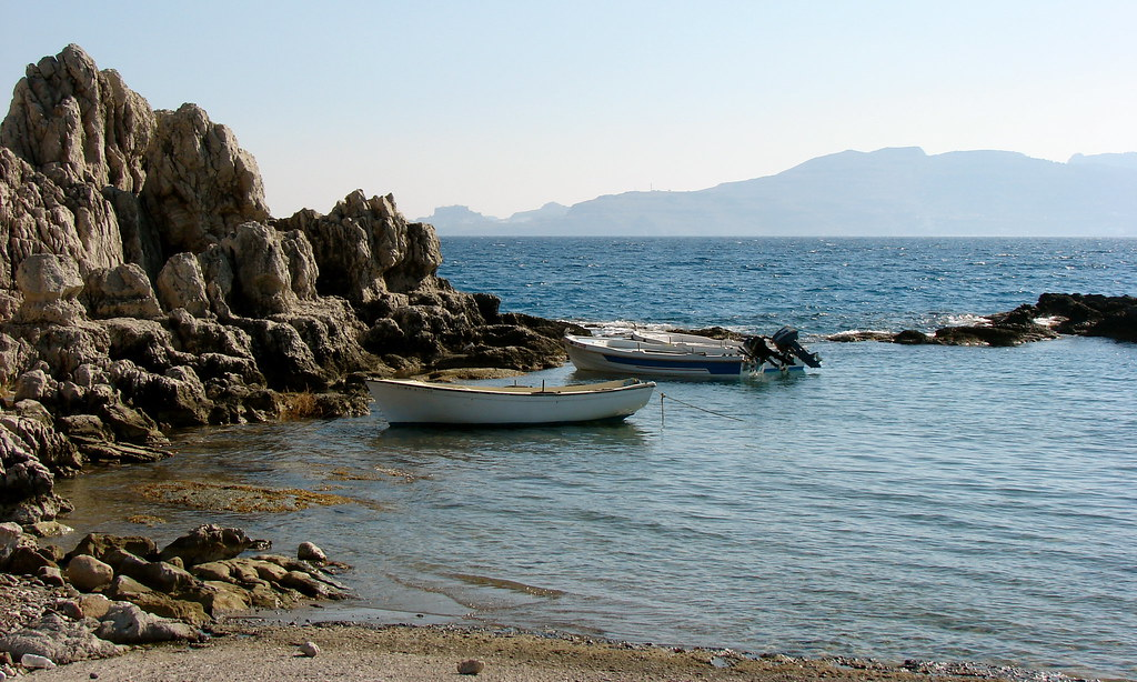 Boats in Haraki, Rhodes