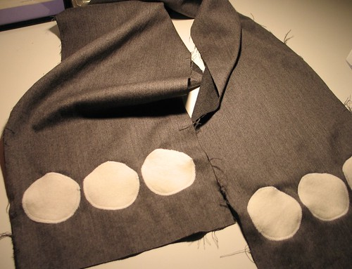 Scarf with circles (unfinished project)