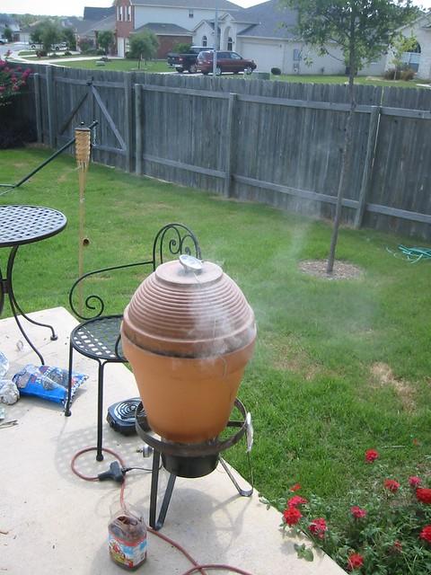 Ceramic clay pot smoker flickr photo sharing