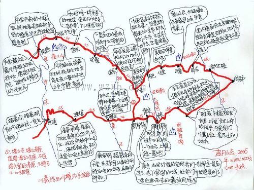 滇藏线详细地图