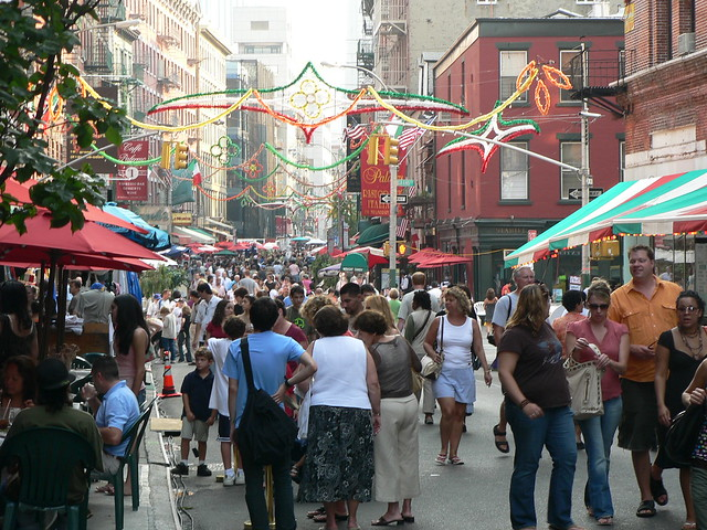 Crowd at Little Italy, Manhattan | Flickr - Photo Sharing!