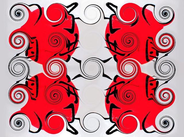 Kanji spirals