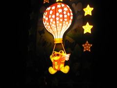 yellow, light, darkness, balloon, lighting, toy,