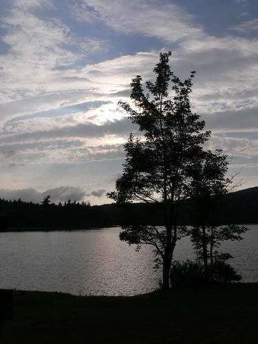 camping sunset lake ny clouds upstate