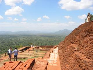At the top of the mountain fortress of Sigiriya, Sri Lanka