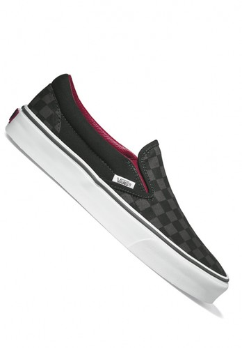 Vans Classic Slip On Aged Leather Black Mens Skate Shoes