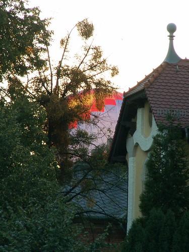 Heissluftballon Dresden auf Gottes Gefilde leuchtete im Blütenschaum