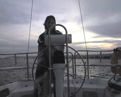 Brrrr, Monica steers us back into port