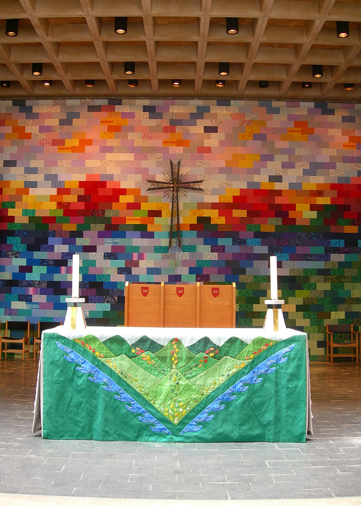 Altar and chancel quilt, Cathedral Church of St Paul by Philocrites, on Flickr