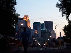 Philip Pillsbury Park Bridge to Downtown Minneapolis