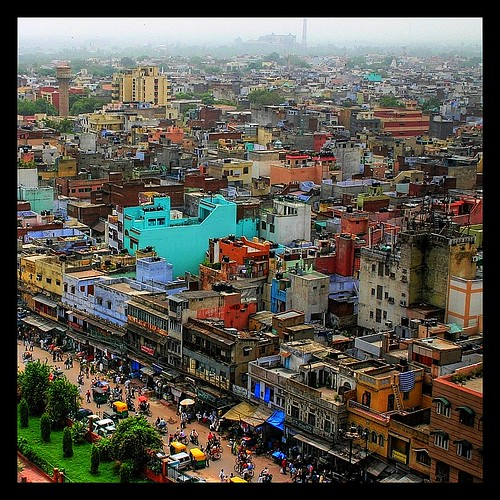 Urban sprawl in Old Delhi