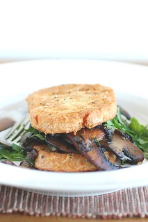 sourdough french toast with field mushrooms