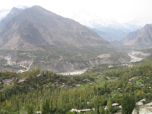 Last view of the Hunza Valley, Karimabad