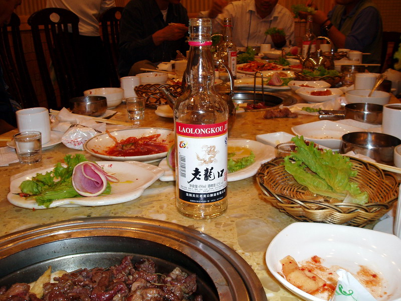 $3 Chinese wine in a Korean restaurant