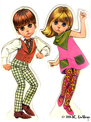 The Mods Paper Dolls