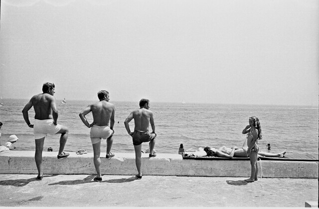 At the shore - 35 Fantastic Black and Whiite Street Photographs