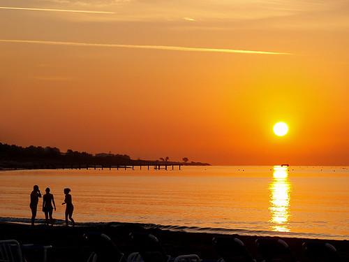 shadow sea sun beach sunrise october bravo bestof cyprus olympus limassol warmtone e500 zd 1454mm