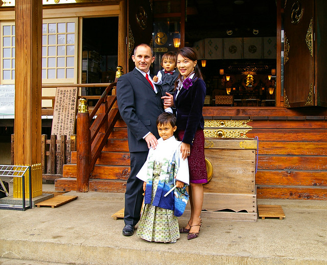 Family on 七五三