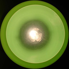 Green light, top view