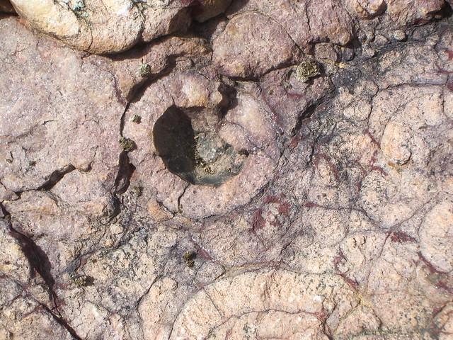Formaciones  en la roca del Morro del Águila (Fontanarejo)