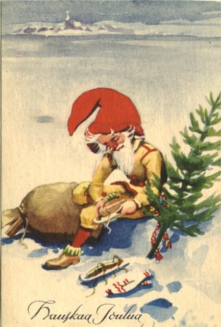 Old Finnish Xmas card