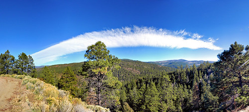 blue trees sky autostitch panorama newmexico green clouds forest canon 350d photoblog ohad ohadonline