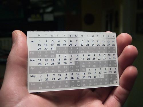 Compact Calendar Card - Design 3