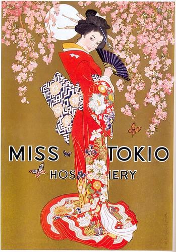 Miss Tokio Hosiery ad, 1927 by Gatochy