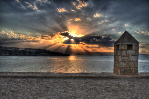 Venician Fort sunset - HDR Remix II