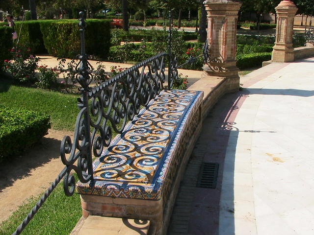 Admirable Ornate Beautiful Mosaic Tile Bench In Seville Spain Where Uwap Interior Chair Design Uwaporg