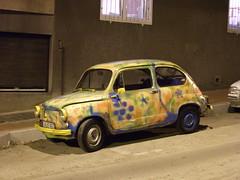automobile(1.0), vehicle(1.0), fiat 600(1.0), subcompact car(1.0), city car(1.0), zastava 750(1.0), antique car(1.0), land vehicle(1.0),