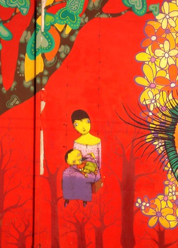 Mother & baby by Os Gemeos