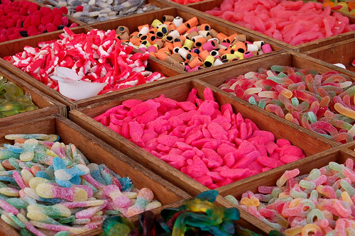 Colourful sweets by jo mclure