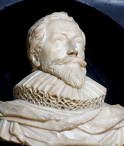 Orlando Gibbons (1583-1625), composer - marble bust