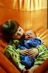 nick holding baby sequoia    MG 4581