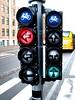 Во многих европейских городах есть светофоры не только для водителей и пешеходов, но и для велосипедистов.