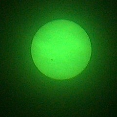 Sunspot 923 through shaded glasses