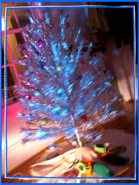 blurry spinning tree