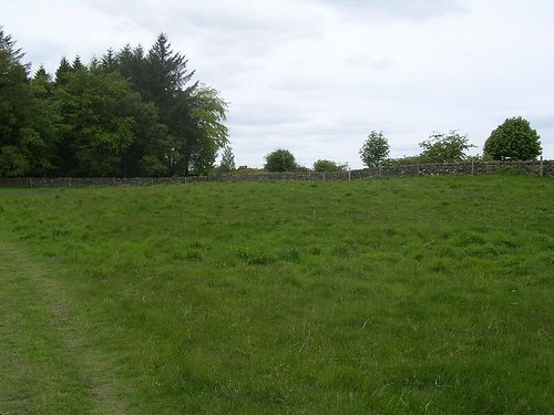 The low earthwork of Milecastle 23