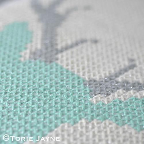 DIY cross stitch cushion 7