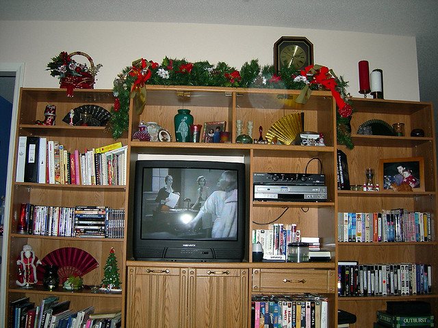 Christmas decorations on my entertainment center  Flickr  ~ 050456_Christmas Decorating Ideas Entertainment Center