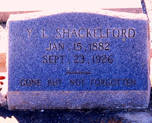 Grave of Young Lee Shackelford