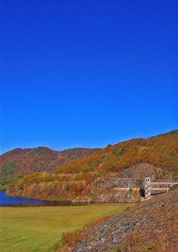 autumn colors vermont dam newengland townshend