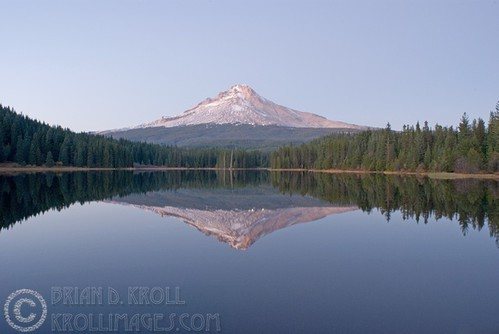 Mt. Hood & Trillium Lake at Sunset