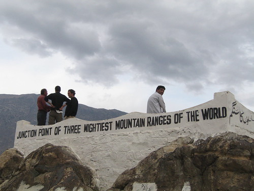 """Junction point of three mightiest mountain ranges of the world"", Karakoram Highway from Karimabad to Chilas"