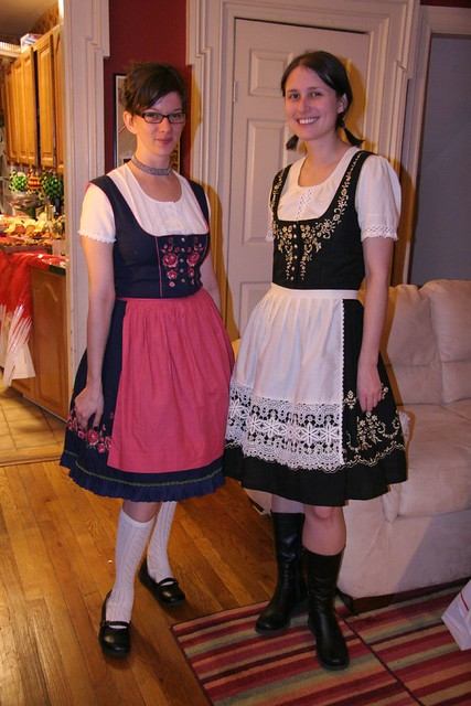 German beer maids (I love their dirndls!)