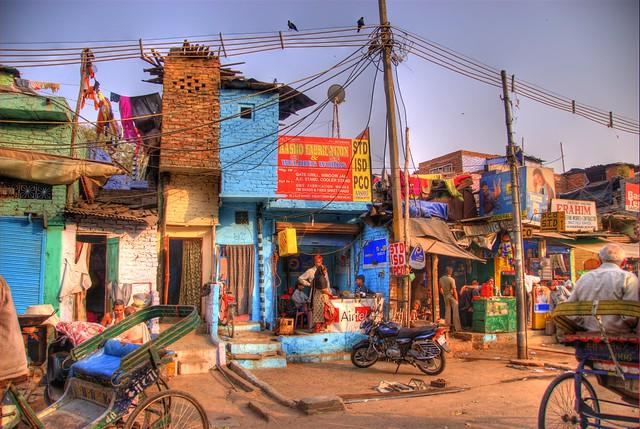 Delhi from a rickshaw