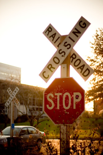 sunset usa sign collage iowa stop railroadcrossing grinnell