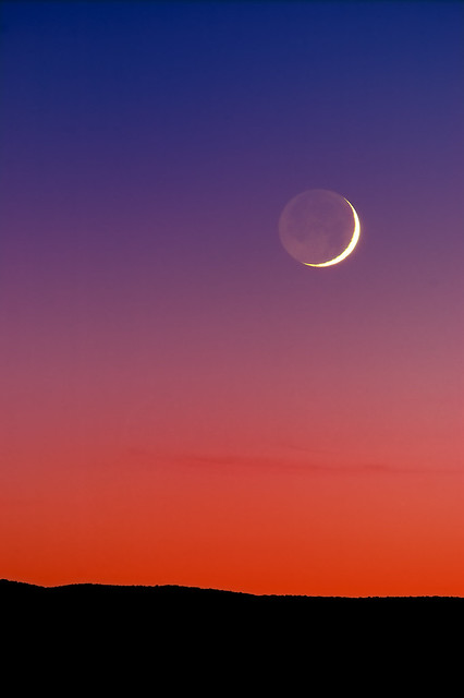 Grand Crescent Moon Sunset